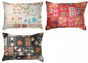 Cushion Cover~ Hippy Bohemian Indian Khambadia Patchwork Cushion Cover~ By Folio Gothic Hippy CC59